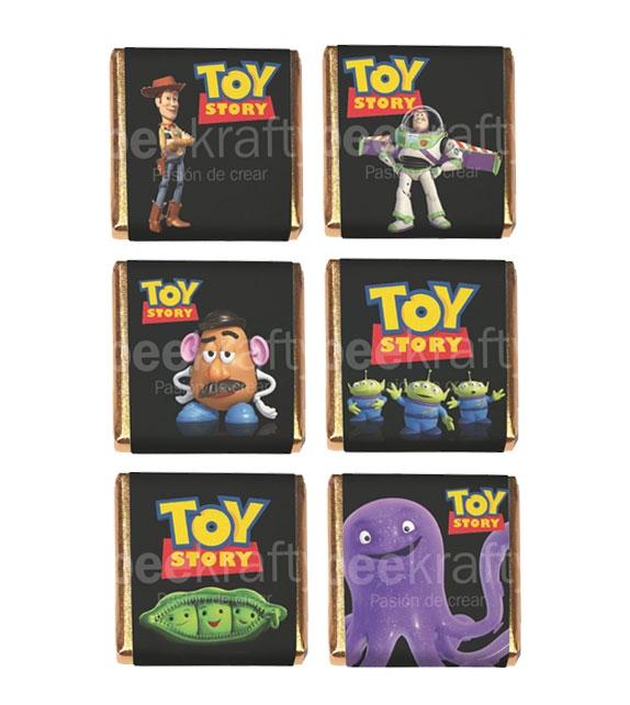 18 Minichocos de toy story