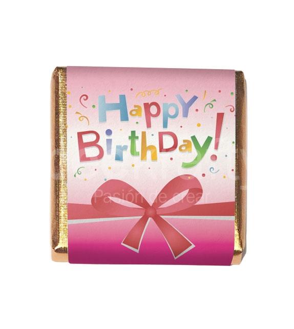 18 Minichocos de Happy Birthday