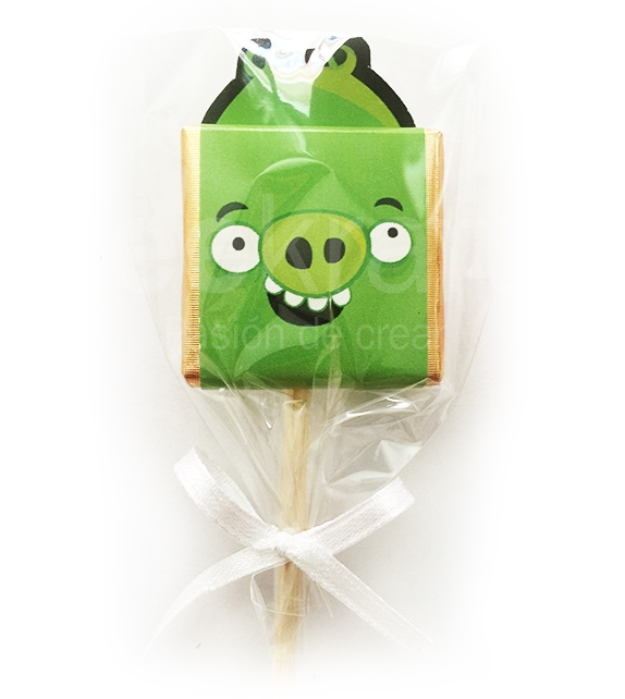 lollipop chocolates of angry birds