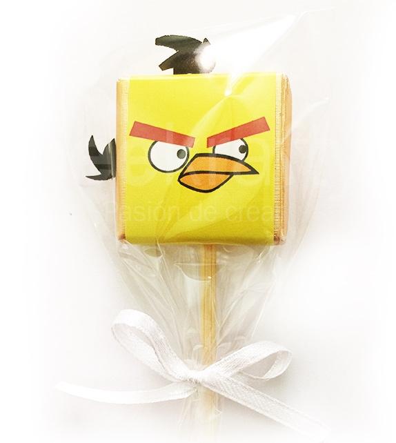 16 chocochupetas de angry birds