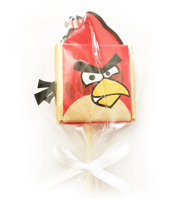 16 lollipop chocolates of Angry Birds