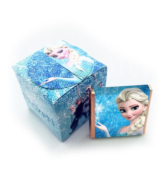 Cajita con 5 minichocos de Frozen