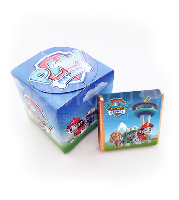 Little box with 5 chocolates of Paw Patrol
