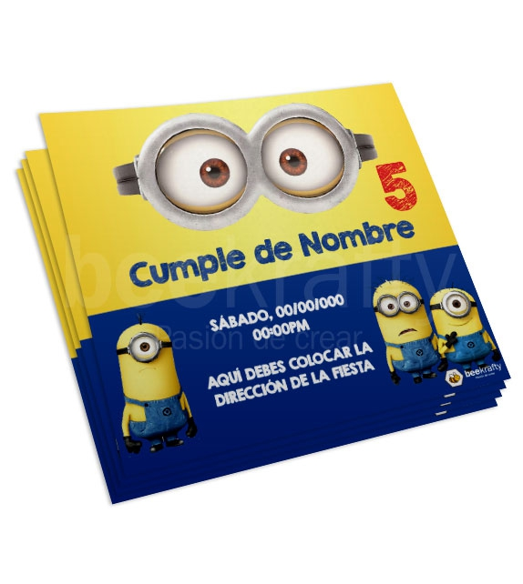 Minion Face Cards