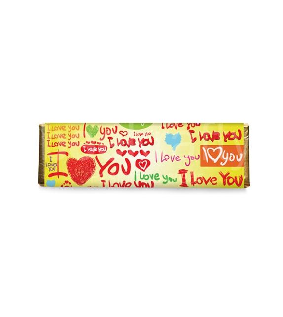 8 Medium love chocolates - yellow