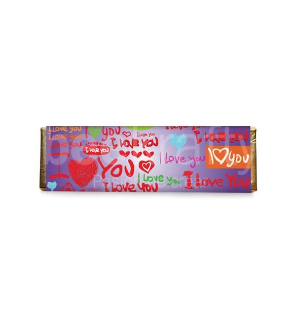 8 Medium love chocolates - purple