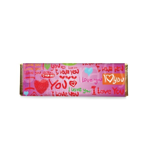 8 Medium love chocolates - Pink