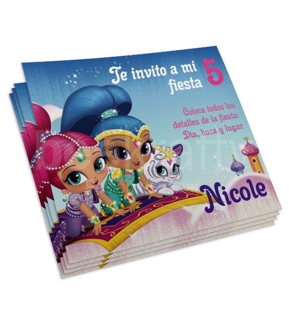 Invitaciones de Shimmer and shine