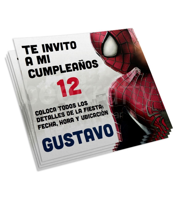 Invitaciones de Spiderman