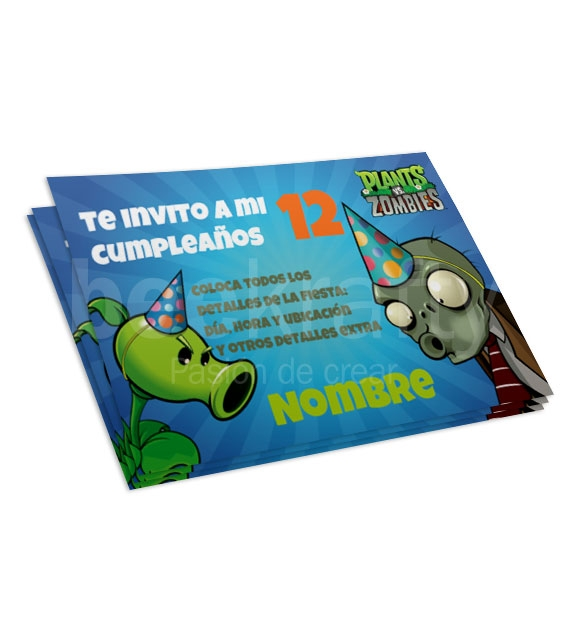 Plant Vs Zombies Invitations