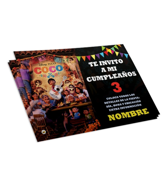 Coco Pixar Invitations