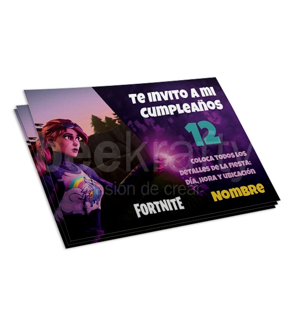 Invitaciones de Fortnite