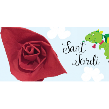 Learn how to make the rose of Sant Jordi