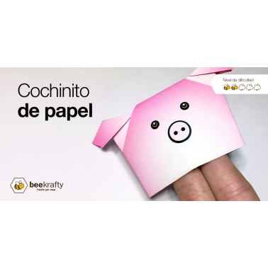 Learn how to make a cute Paper Pig
